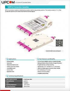 G-Connect MTP to LC Fiber Optic Cassette Base-12