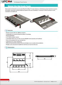 G-Connect UHD Modular Fiber Optic Panel