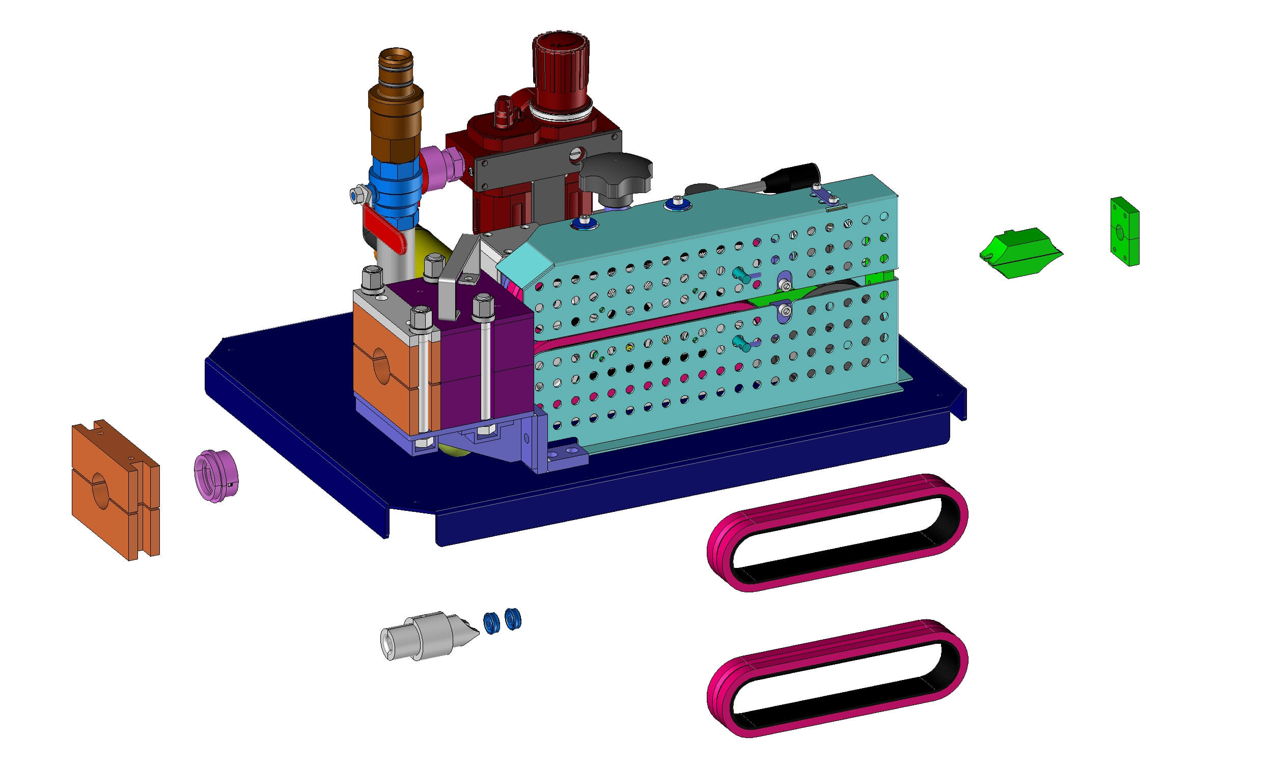 Mini-FOK Cable Blowing Machine Exploded View